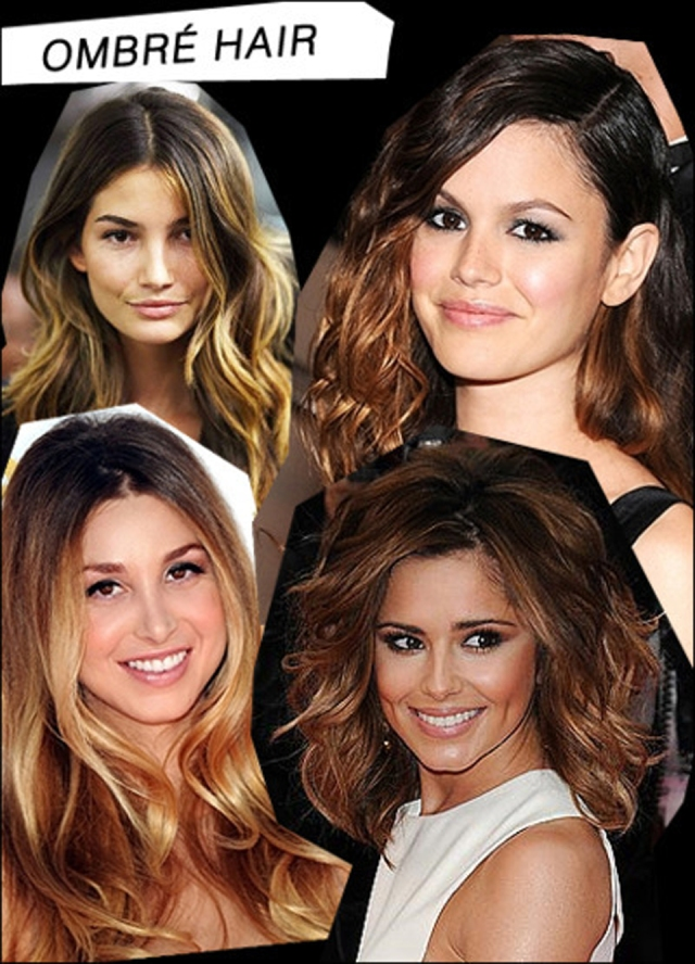 Return of the Ombré! How fabulous is this ombré hair collage from Another Mindless Obsession?!