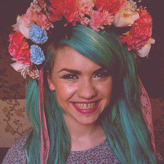Oversized floral crown by Vanity Cage. Image via Etsy.