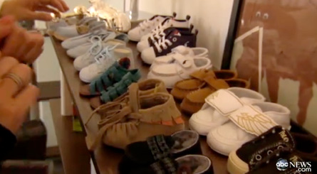 Peep a small selection of Skyler's shoe wardrobe. Kid's got it good!