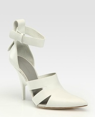 wang joan leather point toe pump 545 272
