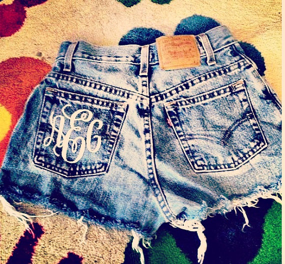 Cut-off shorts by shortyshorts via Etsy.