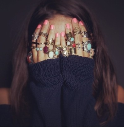 One is never enough, right? While this many rings on this many fingers is more than a little over-the-top, it makes for a pretty dope photo. I want all of these! Image Credit