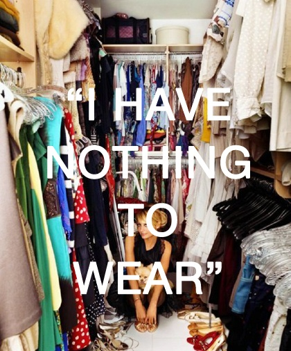 I feel you, Nicole Richie. Closet full of clothes, absolutely nothing to wear. Story of my life. Image via Pinterest