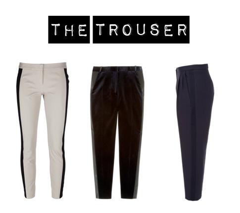 Skinny tux trousers, DKNY.