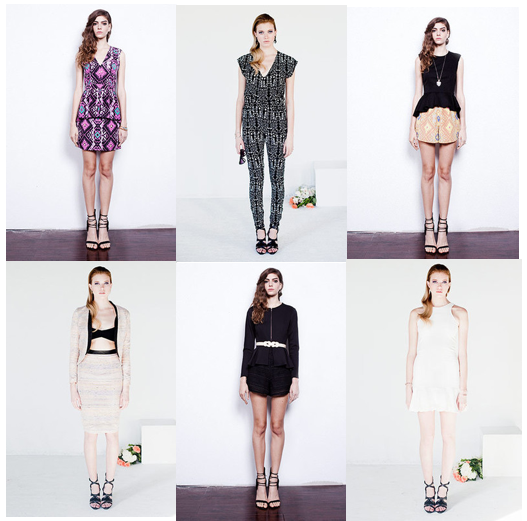 Selected pieces from Hunter Dixon by Hunter Bell, S/S 2013.