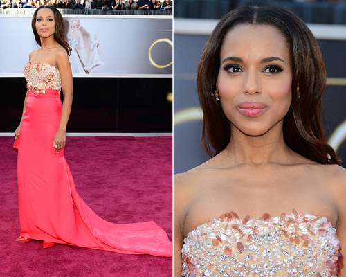 Fresh-faced and fabulous: how amazing is Kerry Washington?! Image Credit
