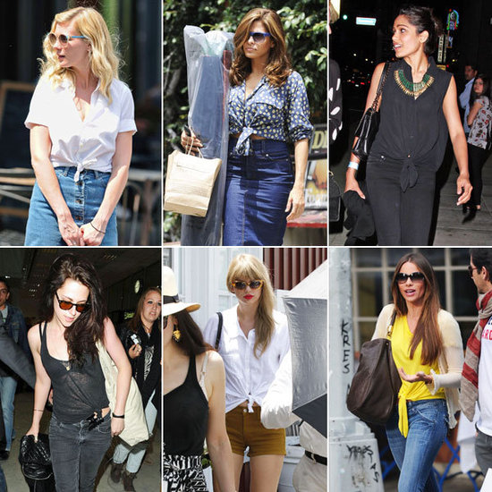 Tie-front tops: a summer style staple for real girls and celebs alike! Image via Pinterest.