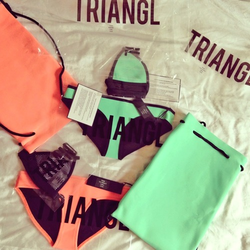 Mint, mesh & neoprene--Triangl does it best. Image Credit