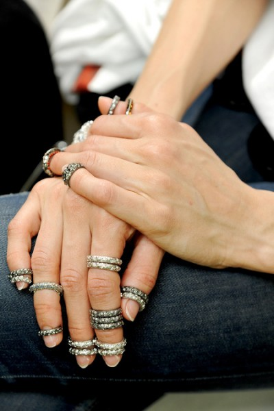 Nail rings at Chanel Haute Couture without nail piercings. Cute, or cluttered? Image Credit
