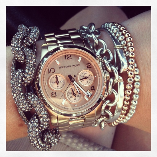 Sparkles and shades! The perfect stack. Image via Pinterest.