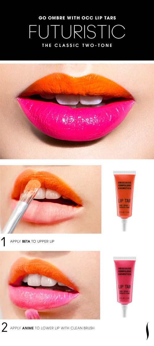 Part trend alert and part advertorial, Sephora pinned this guide to achieving the two-tone ombre lip to their Beauty How-Tos board to 110 likes. What do you think? Image via Pinterest.