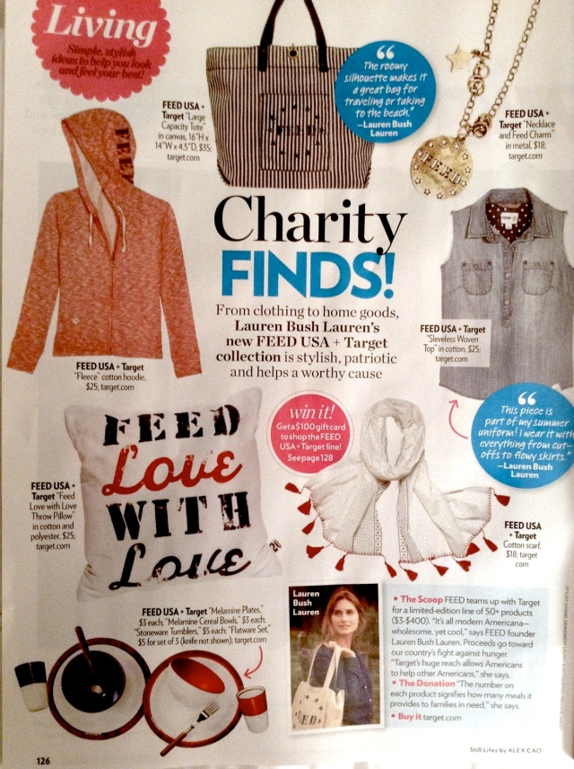 Trend Alert! People Style Watch recently highlighted FEED in the pages of their magazine!