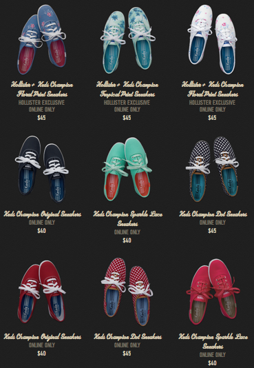 Hollister + Keds is kiiind of a match made in heaven. Loving those prints! Image via Hollister.