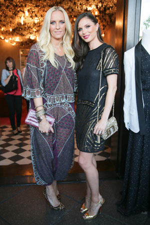 Designers Keren Craig and Georgina Chapman, both in Marchesa Voyage. Image Credit
