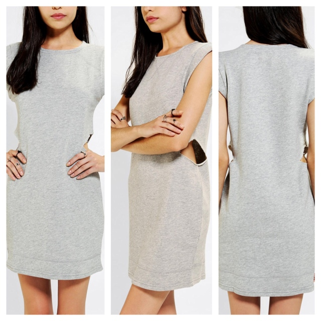 Side-Cutout Sweatshirt Dress by Glamourous. Image via Urban Outfitters.