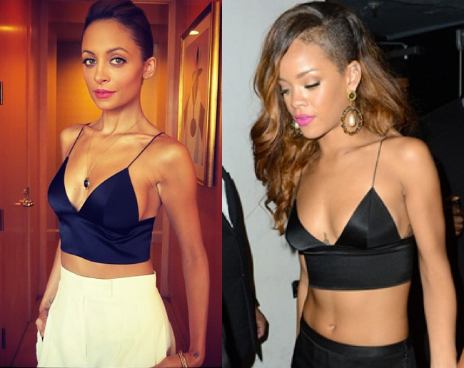 f4c26dd977589 Richie vs Rihanna in Alexander Wang s Silk Satin Bralette - It s a classic  case of who