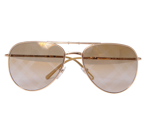 Gold Burberry Sunglasses - $120 @ShopMieux. Original price? $280. Image via ShopMieux.